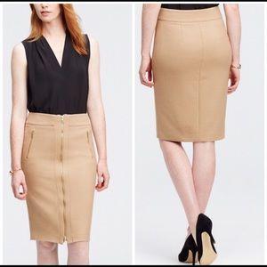 Ann Taylor camel pencil skirt sz4